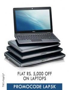 laptop flat rs5000 off