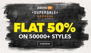 Jabong SuperSale Weekend