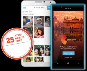 Zoomin Printing App offer