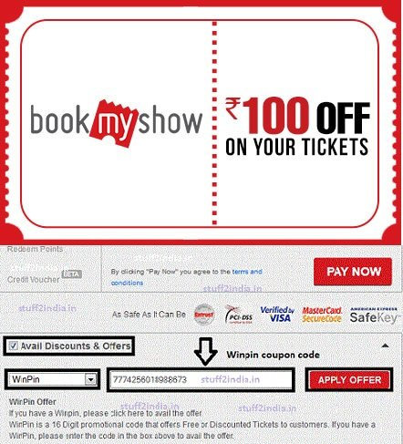 Discount coupons for bookmyshow