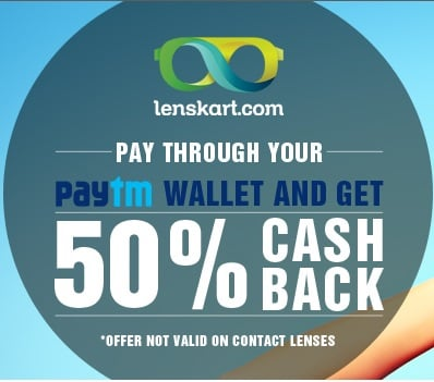 Lenskart Paytm Cashback offer