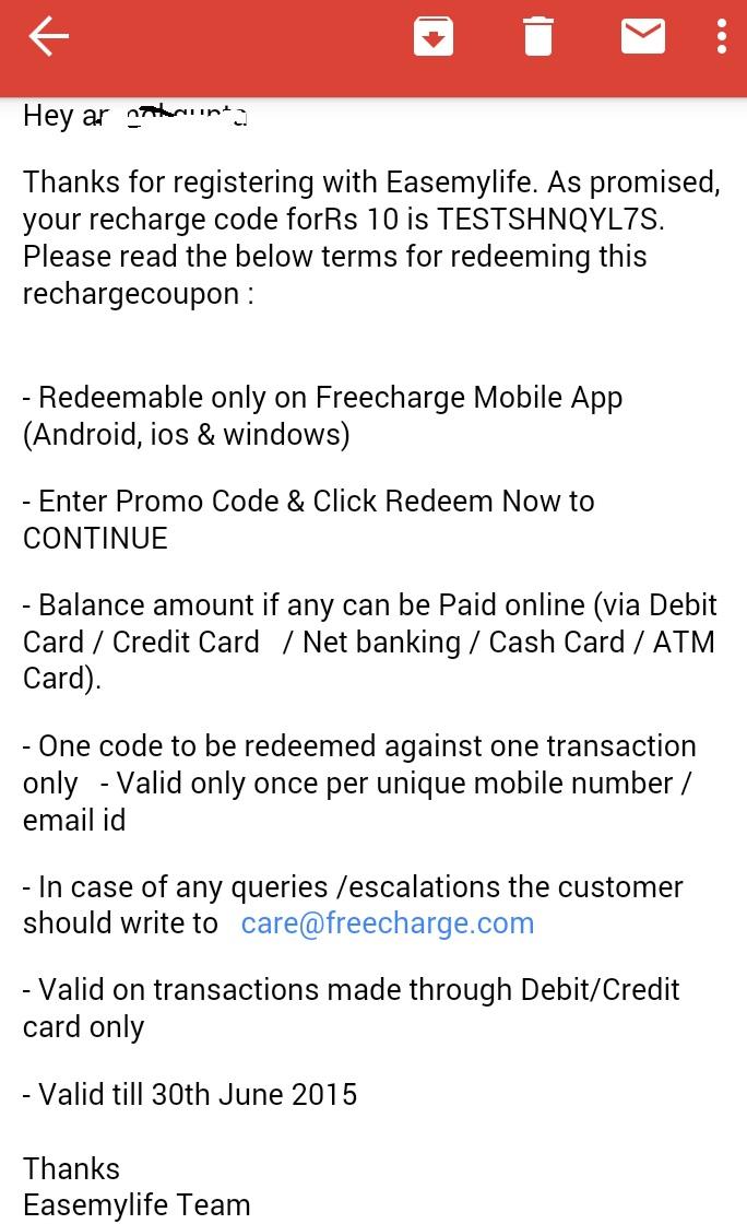 Easemylife app offer