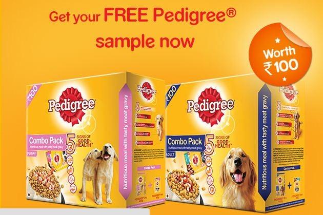 Pedigree food sample