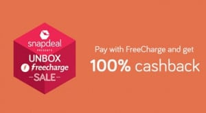 Snapdeal Unbox Freecharge Sale