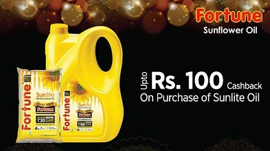 Paytm Fortune Sunlite Oil offer