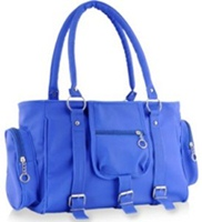 blue color bag