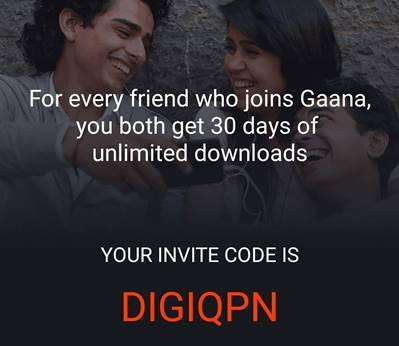 30 days FREE subscription With Gaana App: Gaana offer