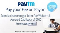 Paytm Fee Payment Offer