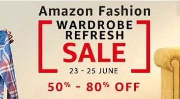 Amazon Wardrobe Refresh Sale