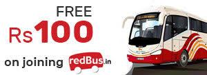 redbus 100 coupons