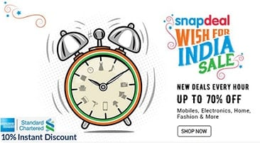 e2028b0aff2 Snapdeal Independence Day Offers  Upto 70% OFF + 10% OFF