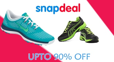 a406dfb5557 Snapdeal Sports Shoes Offer  Upto 90% OFF on Branded Shoes