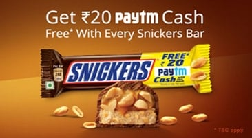 Paytm Snickers Offer Code