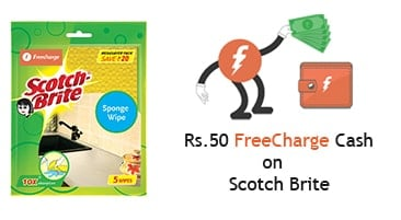 ​Freecharge Scotch Brite Offer