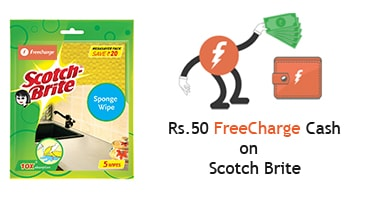 Freecharge Scotch Brite Offer