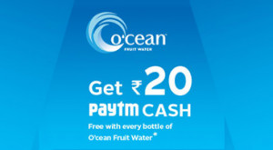 Paytm Ocean Water Bottle Offer