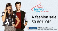 Flipkart Fashion Days Sale 2017