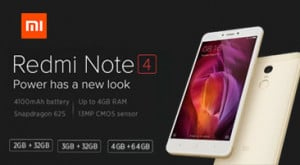 Xiaomi Redmi Note 4 Price in India