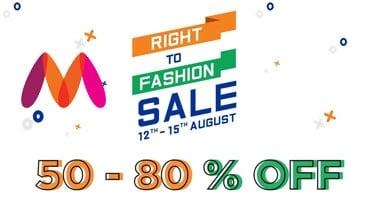 071e1debd40 Myntra Right to Fashion Sale (12-15 Aug)  Flat 50-80% + 10% OFF