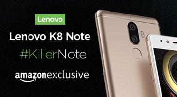 Lenovo K8 Note Price in India