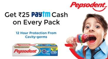 Paytm Pepsodent Offer Cash Code