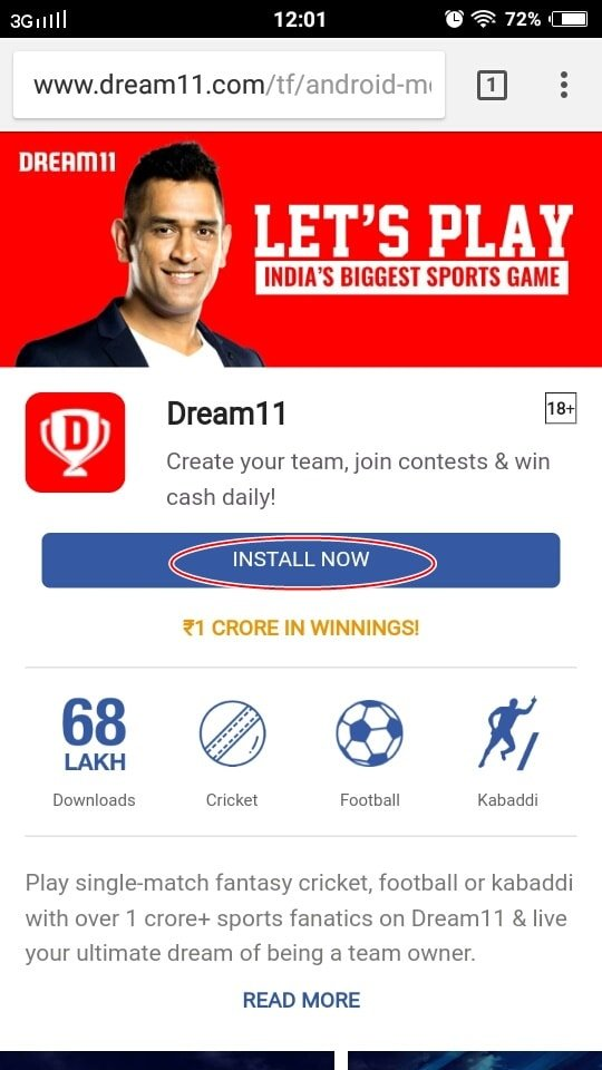 dream11 apk new version free download