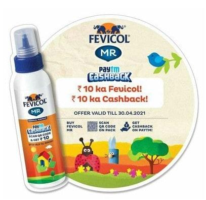 Fevicol Paytm Offer